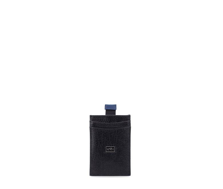 Tarjetero-vertical-plano-con-tira-negro-cobalto-millenium